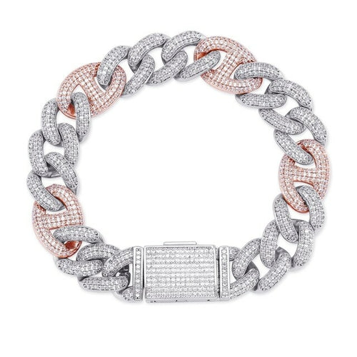 14MM ICED OUT GUCCI LINK BRACELET