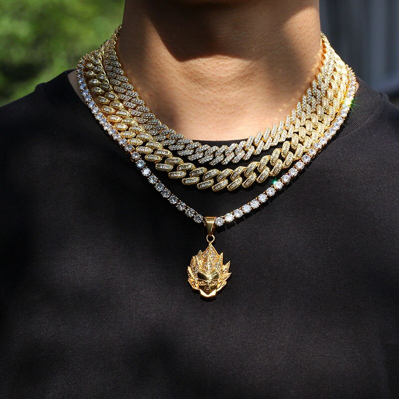 12 MM Baguette Cuban Link Chain