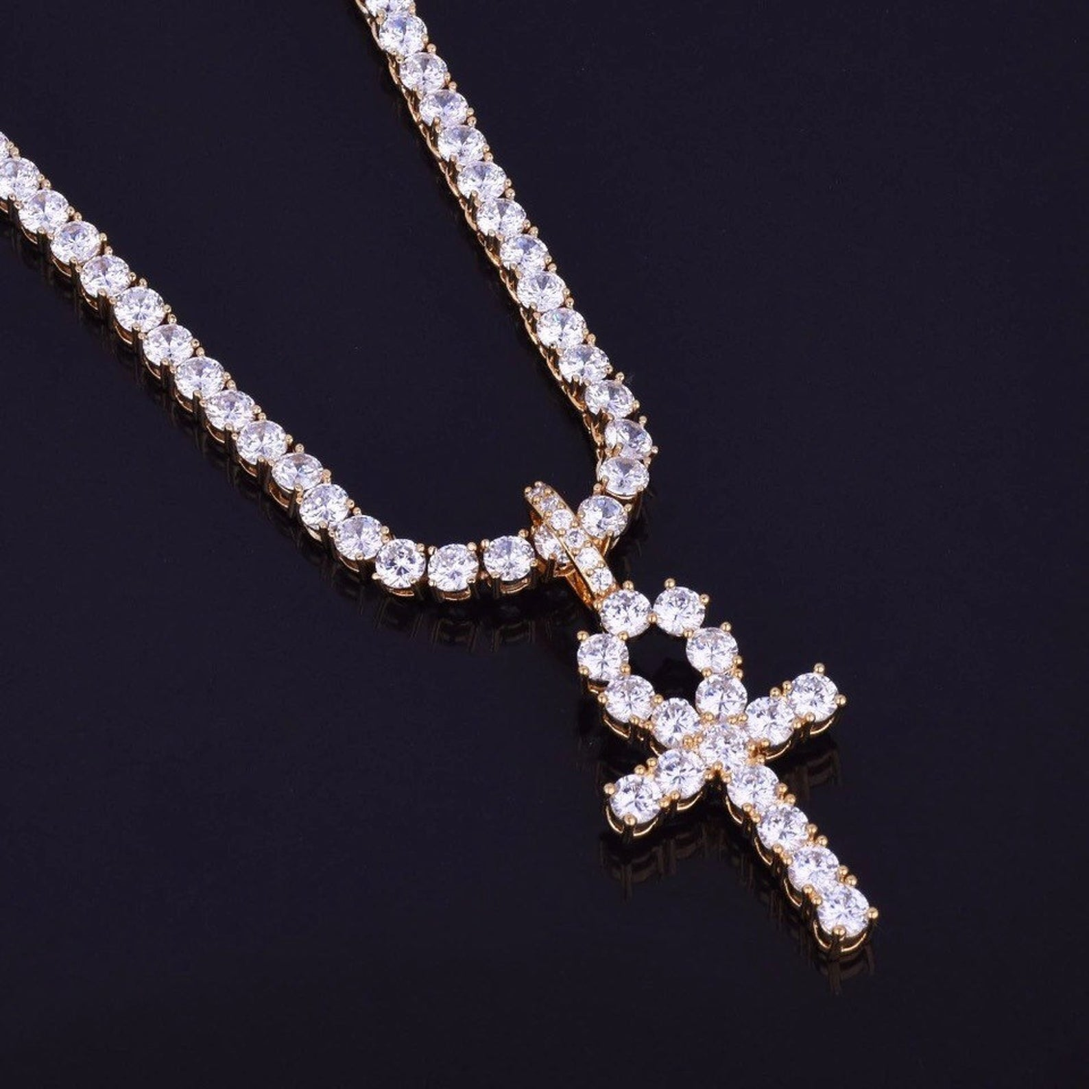 iced-out-zircon-ankh-cross-with-4mm-tennis-chain-necklace-set-dripwatch.store