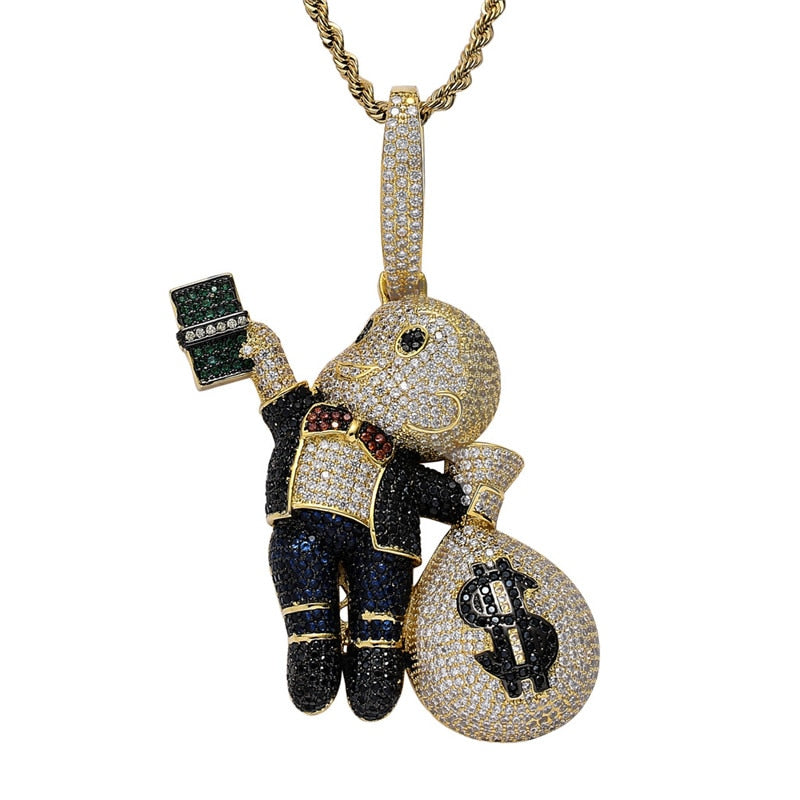 Bands Boy With Money Bag Pendant