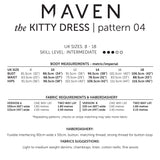 MAVEN sewing Patterns. The Kitty Dress.