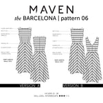 MAVEN sewing Patterns. The Barcelona.