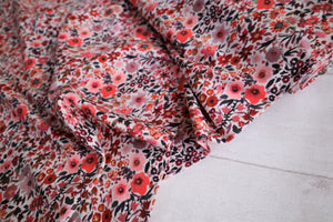 NEW 'Aquarelle fleurs' cotton jersey Ecru €14 per mtr
