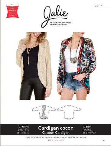 Jalie Patterns. Cocoon Cardigan