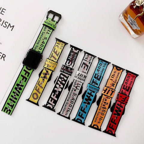 off white apple watch band