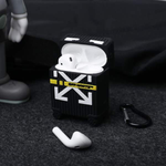 off white luggage airpod case