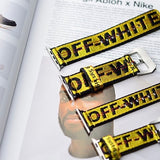 yellow off white apple watch band