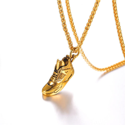 18k gold plated sneaker chain