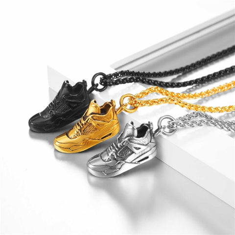stainless steel chain with sneaker