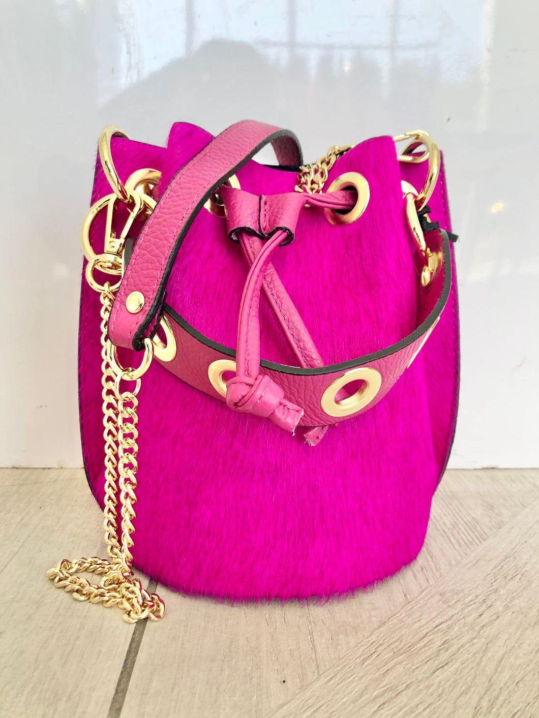 Hot Pink Bucket Bag
