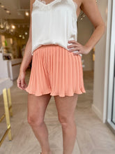 Load image into Gallery viewer, Pleated Shorts- Cantaloupe