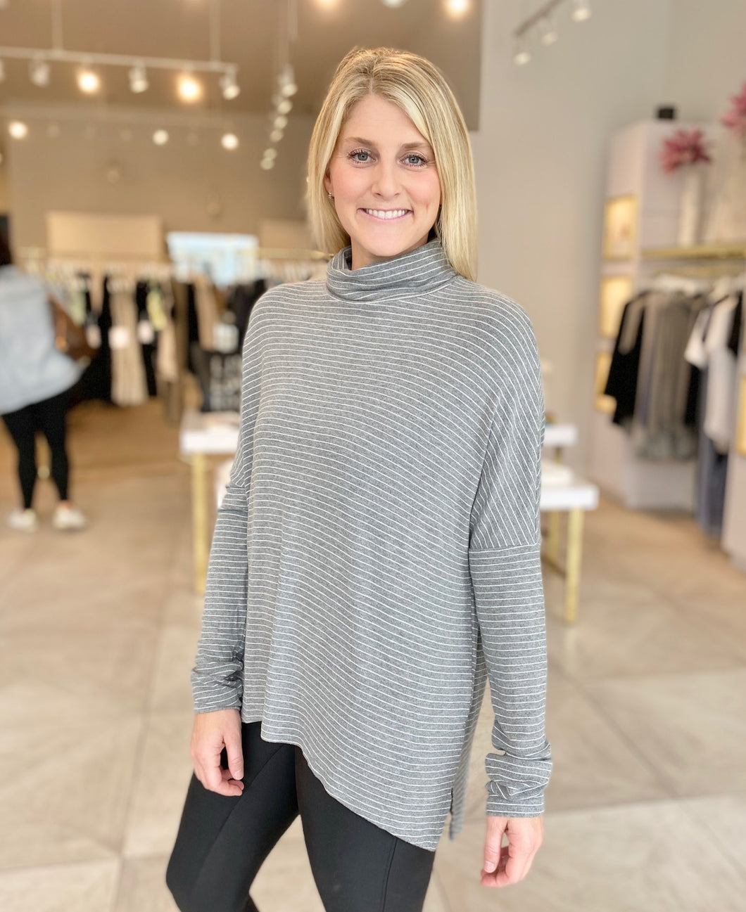 Heather Grey Turtleneck