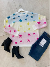 Load image into Gallery viewer, Ombre Star Sweater - White