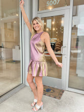 Load image into Gallery viewer, Ezra Dress - Gold/Purple