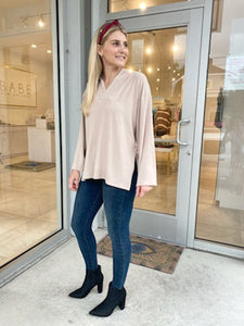 Pecan Vneck Sweater