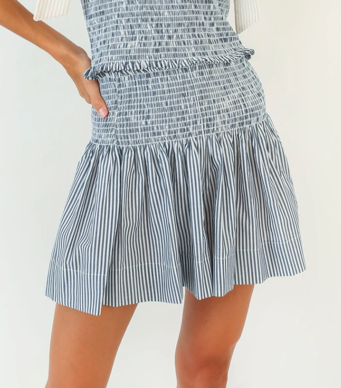 Erica Skirt - Smocky Stripe