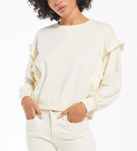 Load image into Gallery viewer, Freya LS Ruffle Top - Ivory