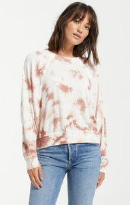 Claire TieDye Top - Rose