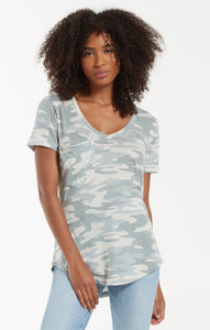 Pocket Camo Tee - Dusty Sage