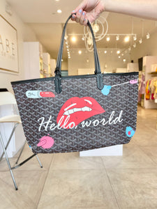 Hello World Tote - Grey