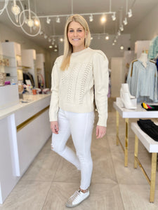 Carter Sweater- Ivory