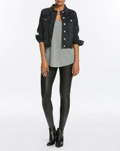 Faux Leather Legging- Black