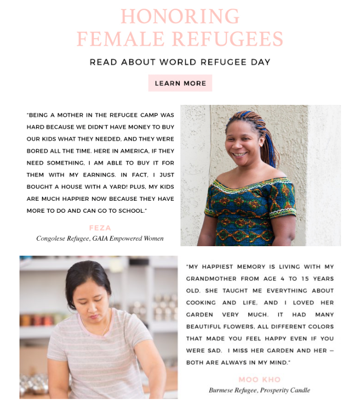 Happy World Refugee Day! – GAIA Empowered Women