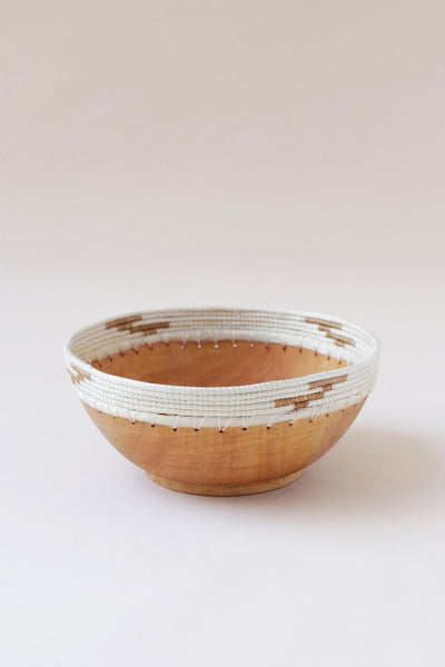 Indego Africa - White & Tea Copabu Bowl