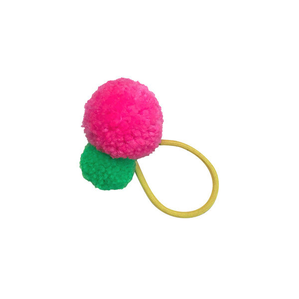 Pom Pom Hair Tie - Yellow Band