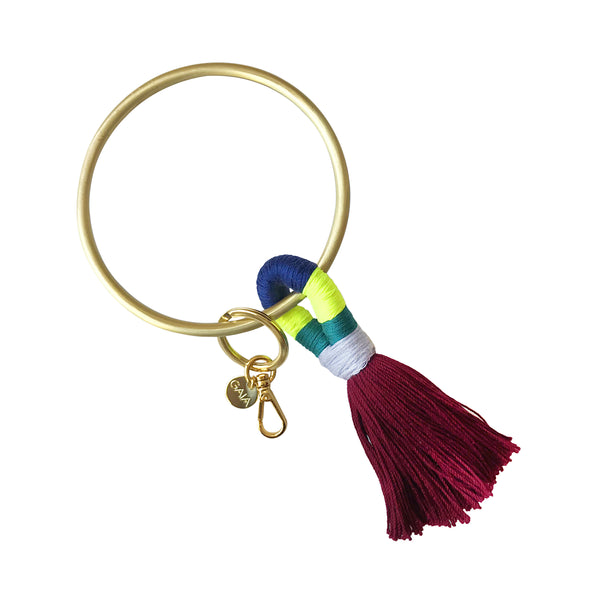 Key Ring - Cranberry