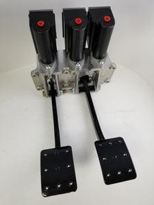 JCA4000-3S3S34 - Reverse Swing Triple Master Cylinder Pedal Assembly