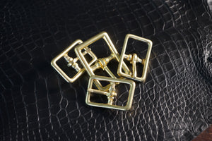 Solid Brass Rectangle Buckles
