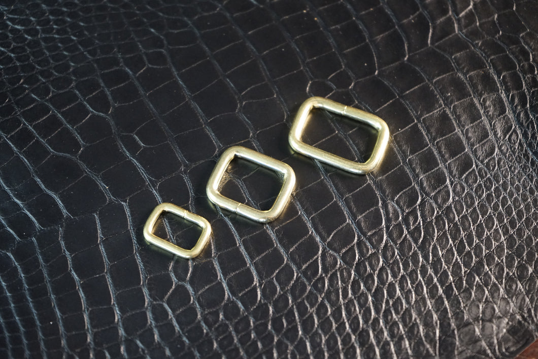 Solid Brass Rectangle Rings