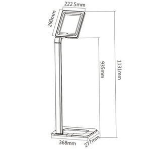 BRATECK Universal IPad/Galaxy, Anti-Theft Floor Stand.