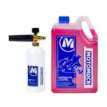 Load image into Gallery viewer, Motorcycle Cleaner 5L + Snow Foam Gun