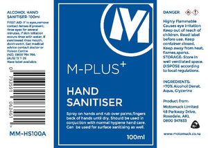 M-Plus 70% Alcohol Hand Sanitiser
