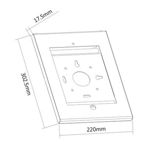 BRATECK Universal IPad Anti-Theft Steel Wall Mount Enclosure. Fits