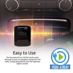 PROMATE Car FM Modulator With USB Charging Port. Playback From USB