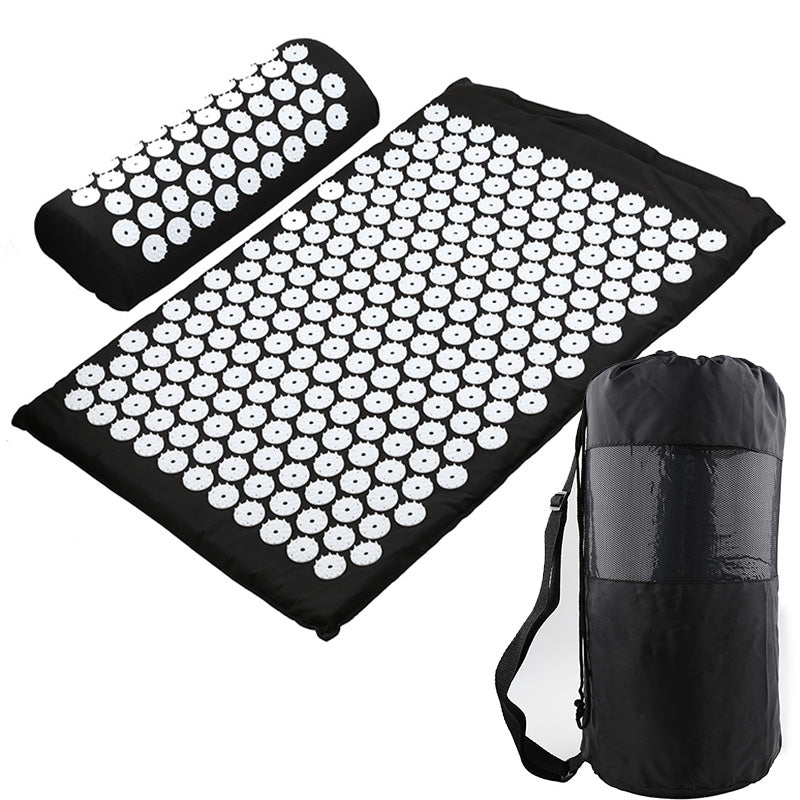 Acupressure Mat and Neck Pillow Massage Set