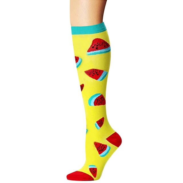 Watermelon Compression Socks - Women's Over the Calf Socks