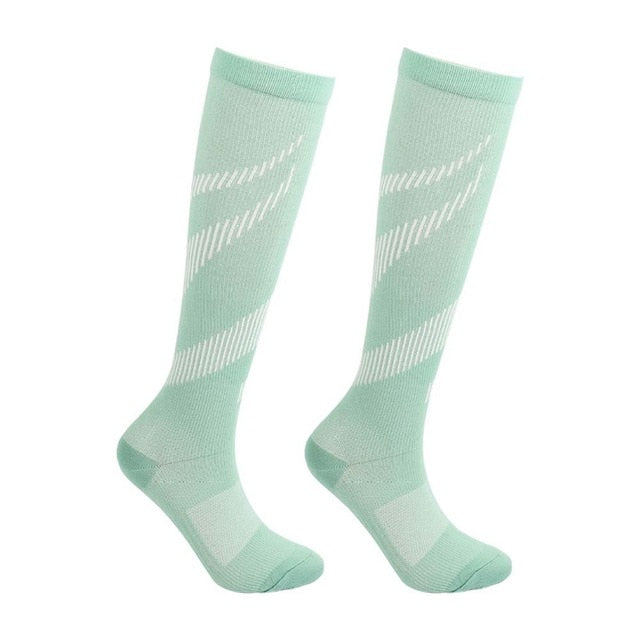 Women's Light Green Compression Socks -  20-30 mmHg