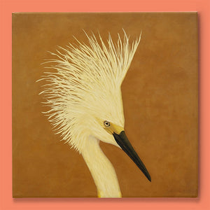 Snowy-Egret-Portrait-Giclee-Reproduction