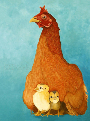 Key West Gypsy Hen & Chicks - Original Oil Original Oils Barbara Fallenbaum