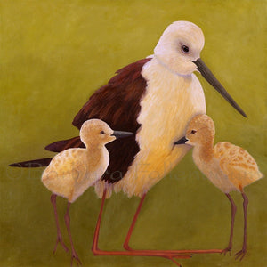 Stilt Mom & Babies - Original Oil Original Oils Barbara Fallenbaum