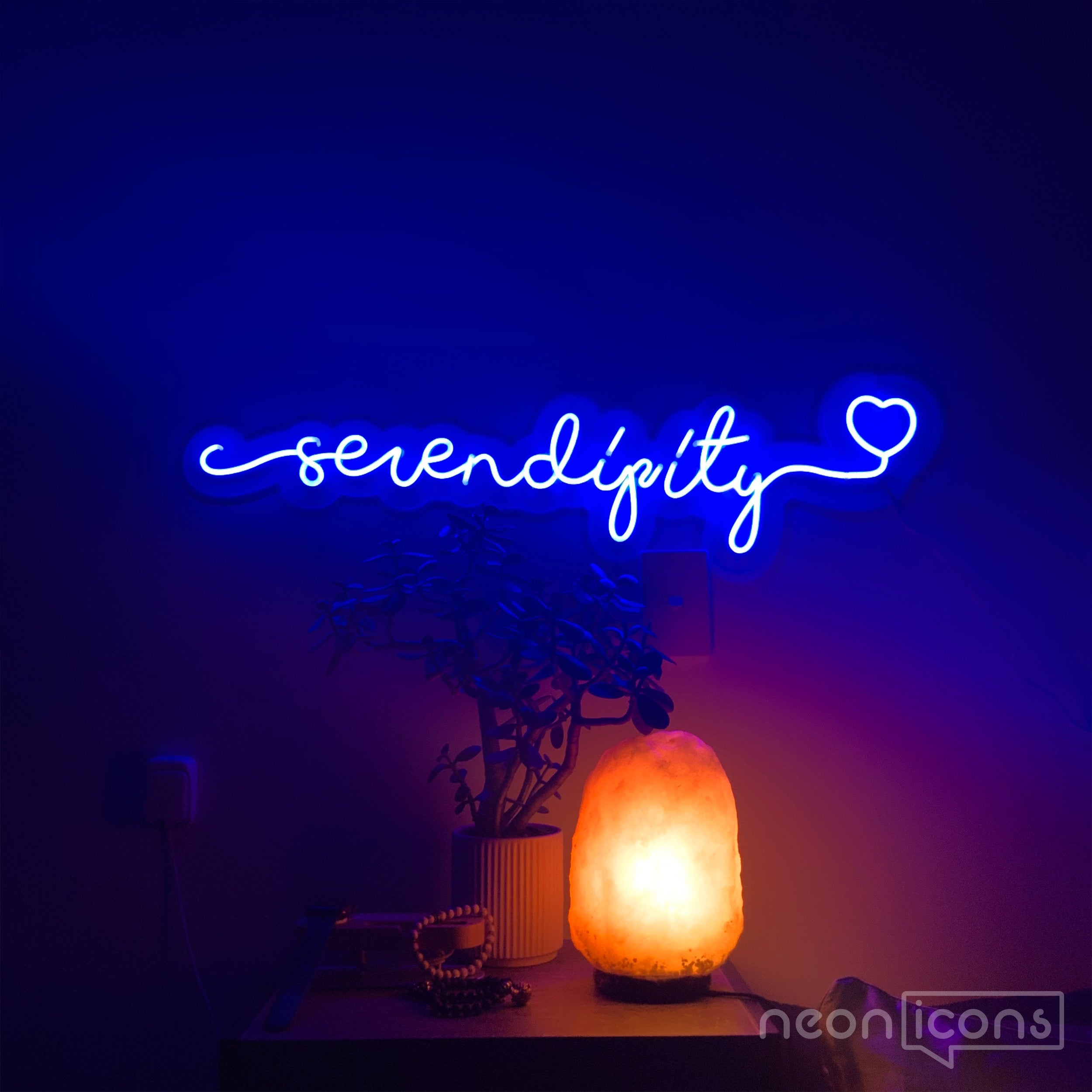 Serendipity Neon Sign by Neon Icons Depicting Safety