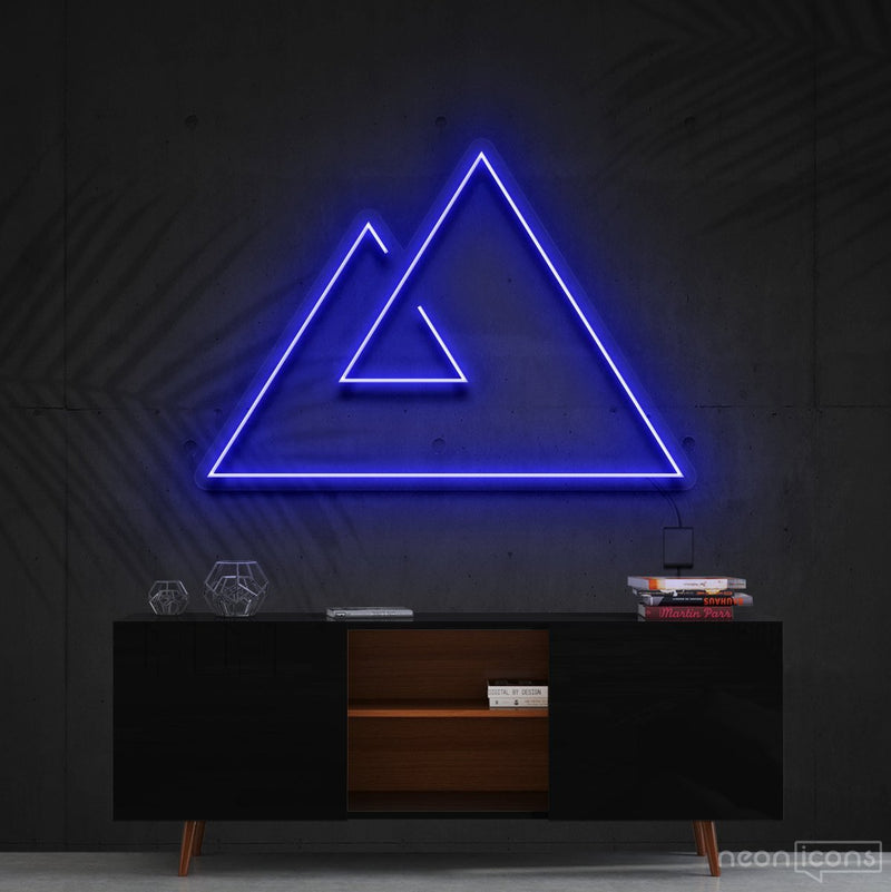 """Abstract Mountains"" Neon Sign 60cm (2ft) / Blue / Cut to Shape by Neon Icons"