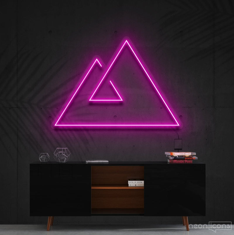 """Abstract Mountains"" Neon Sign 60cm (2ft) / Pink / Cut to Shape by Neon Icons"