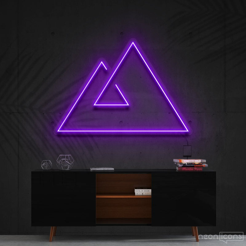 """Abstract Mountains"" Neon Sign 60cm (2ft) / Purple / Cut to Shape by Neon Icons"