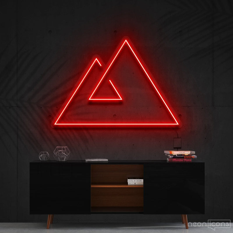 """Abstract Mountains"" Neon Sign 60cm (2ft) / Red / Cut to Shape by Neon Icons"