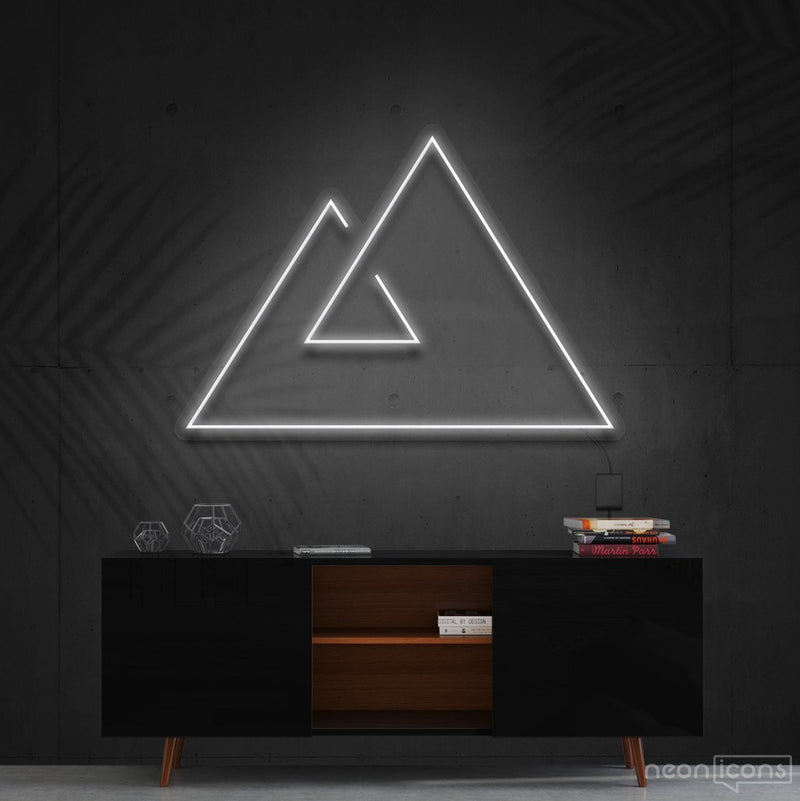 """Abstract Mountains"" Neon Sign 60cm (2ft) / White / Cut to Shape by Neon Icons"